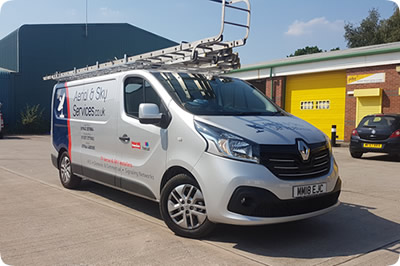 New Aerial and Sky Services Van